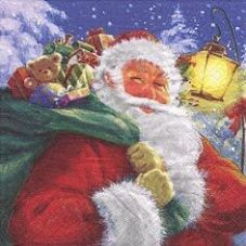 Santa with his Presents Napkins